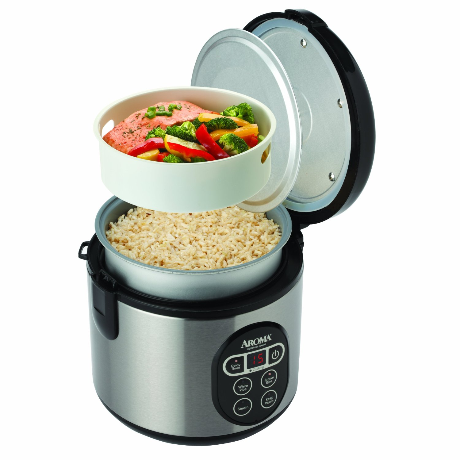 155d5bde7 Aroma Housewares ARC-914SBD 8-Cup (Cooked) Digital Cool-Touch Rice ...