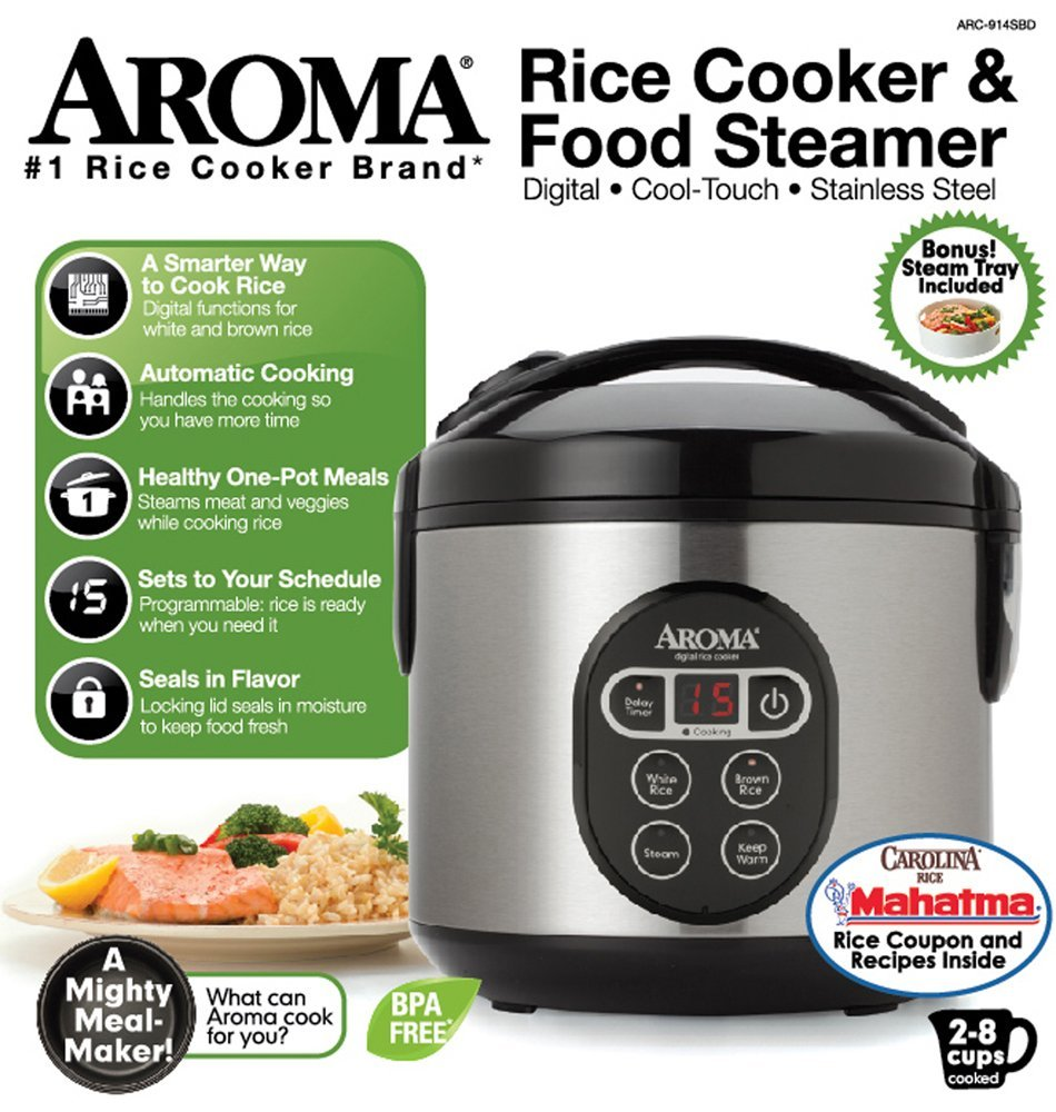 Aroma Housewares Arc 914sbd 8 Cup Cooked Digital Cool